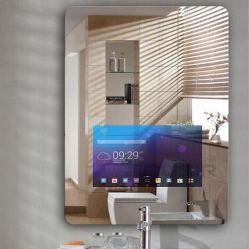 touch screen smart mirror in bath room2