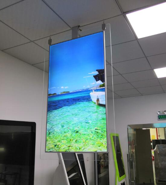 55 inch QLED 2CM thin double sided display2