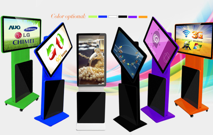For U standing rotating digital screen colors